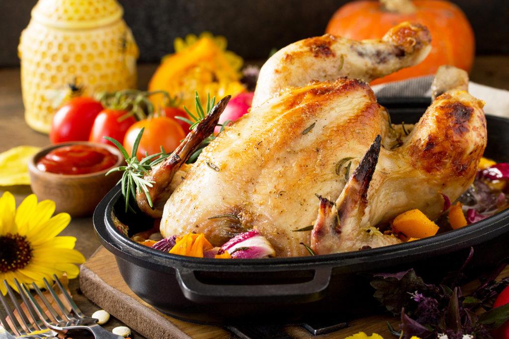 RUČAK – Pećena piletina s povrćem